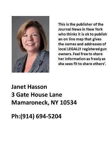 Janet Hasson, publisher of gun owners' addresses