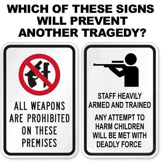 Which of these signs will prevent another school shooting?